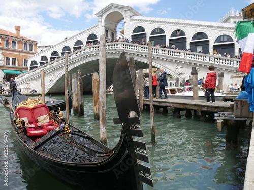 Stickers pour porte Venise Venezia - ponte di Rialto