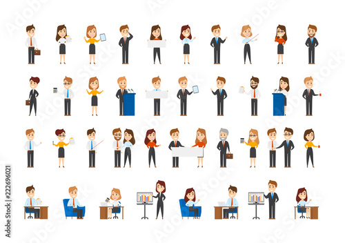 Collection of office workers in different situations Canvas-taulu