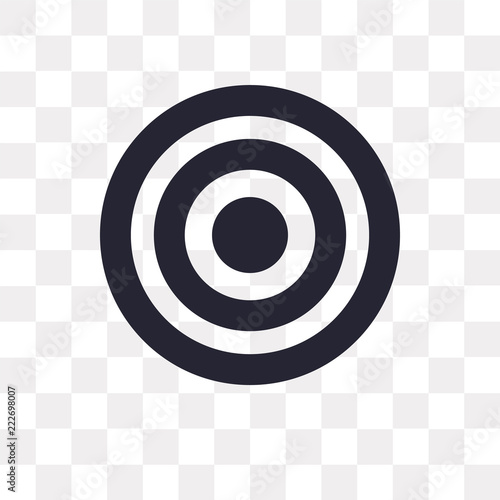 Target Icon On Transparent Background Modern Icons Vector