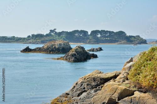 Foto op Plexiglas Eiland Paysage de l'île Bréhat en Bretagne