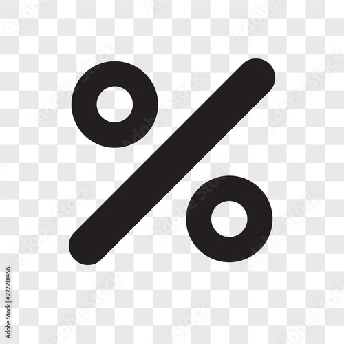 Vászonkép  percent icons isolated on transparent background
