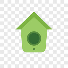 Birdhouse Icons Isolated On Transparent Background. Modern And Editable Birdhouse Icon. Simple Icon Vector Illustration.