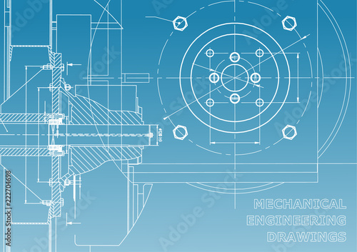 Technical Illustration  Mechanical Engineering  Backgrounds Of Engineering Subjects  Technical