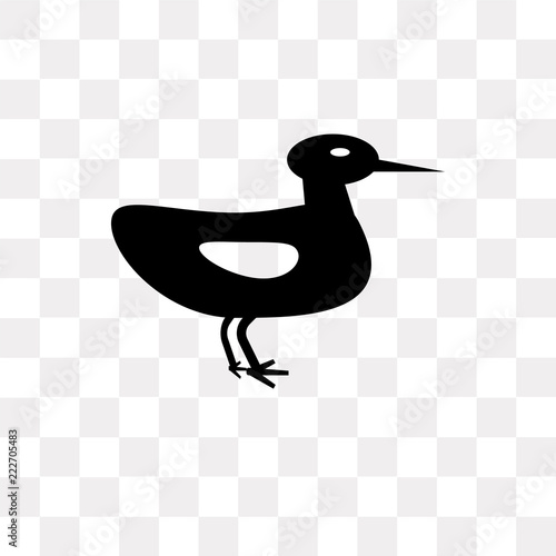 Fotografie, Obraz  Ducky vector icon isolated on transparent background, Ducky logo design