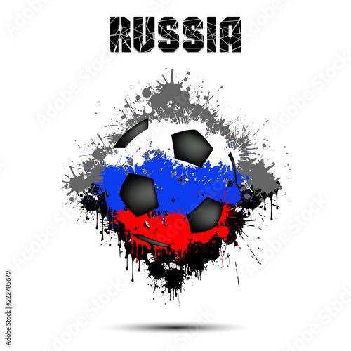 Papiers peints Visage de femme Soccer ball in the color of Russia