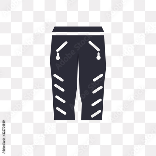 Fotografie, Obraz  Trousers vector icon isolated on transparent background, Trousers logo design