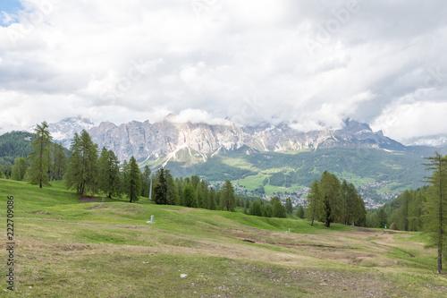 Fotobehang Wit Dolomites Italy, nature and landscape
