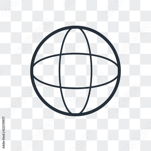 grid world icon isolated on transparent background  Modern