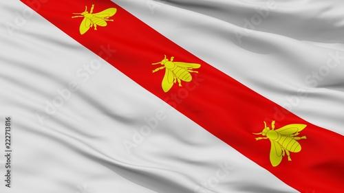 Fotografía Bandiera Elba Flag, Closeup View, 3D Rendering
