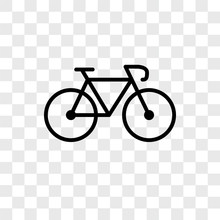 Bicycle Icons Isolated On Transparent Background. Modern And Editable Bicycle Icon. Simple Icon Vector Illustration.