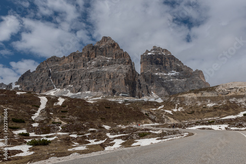 Poster Donkergrijs Dolomites Italy, nature and landscape