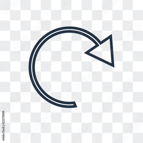 Fototapeta return icon isolated on transparent background. Modern and editable return icon. Simple icons vector illustration. obraz na płótnie