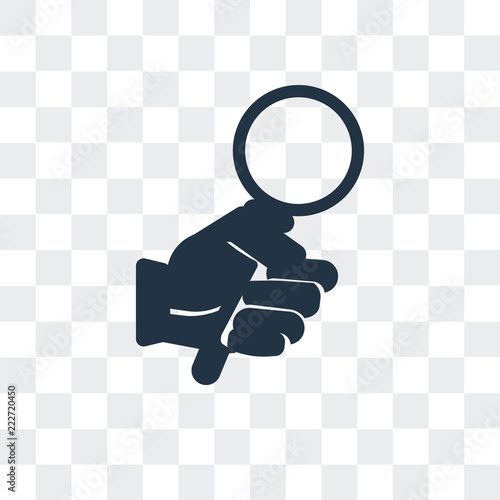 Fotografie, Obraz  Hold vector icon isolated on transparent background, Hold logo design