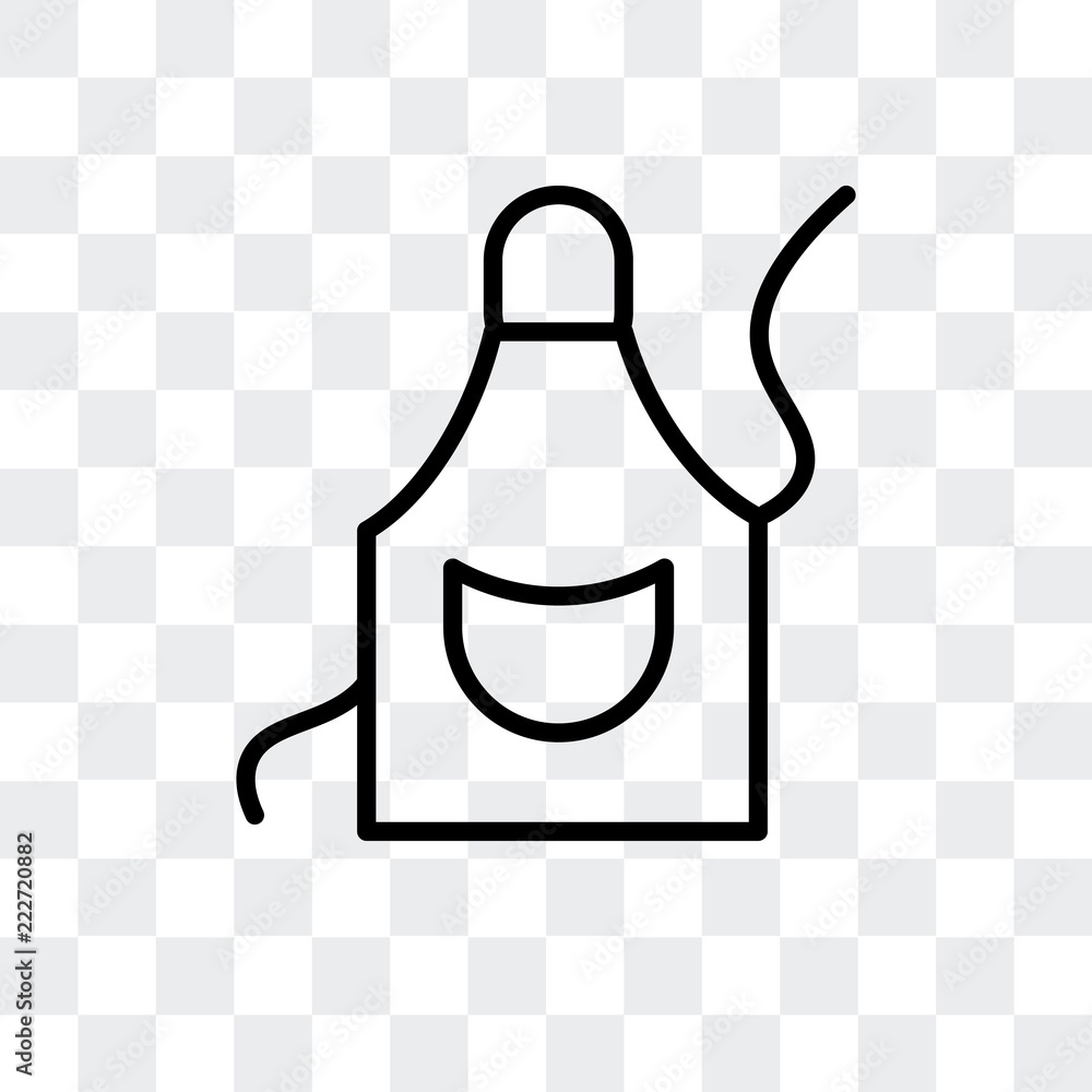 Fototapeta apron icon isolated on transparent background. Modern and editable apron icon. Simple icons vector illustration.