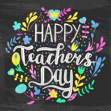 Happy Teacher's Day Vector Ill...