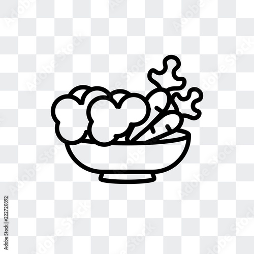 vegetarian food icon isolated on transparent background