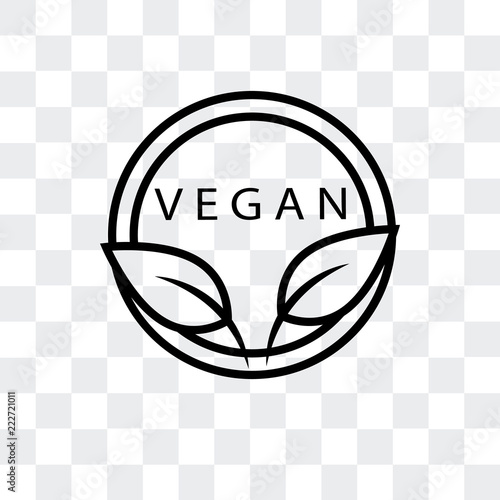 vegan icon isolated on transparent background  Modern and