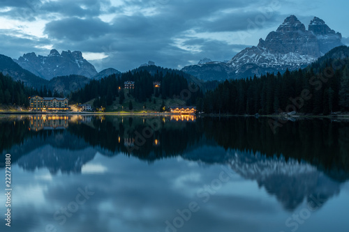Spoed Foto op Canvas Blauwe jeans Dolomites Italy, nature and landscape