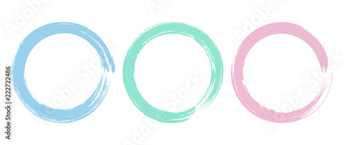 Fotomural  Brush Circle Logo template Vector Design