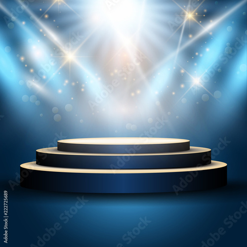 Foto op Canvas Licht, schaduw Podium under spotlights