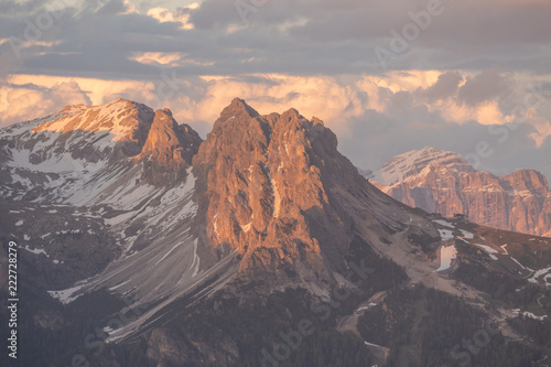 Spoed Foto op Canvas Donkergrijs Dolomites, Italy photography in summer