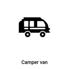 Camper Van Icon Vector Isolate...