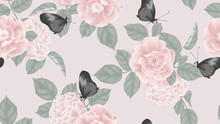 Botanical Seamless Pattern, Pi...