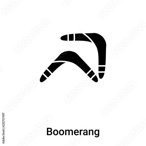 Photo  Boomerang icon vector isolated on white background, logo concept of Boomerang si