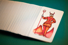 Pack Of Pictorial Tarot Cards With The Devil