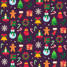 Seamless Christmas Symbols. Xm...