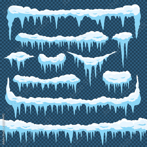 Cuadros en Lienzo Cartoon snow icicles