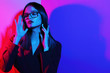 canvas print picture - Fashion woman in glasses.