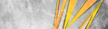 Orange Grey Abstract Grunge Co...