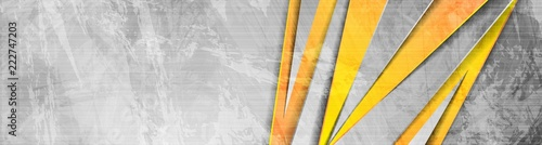 Fototapeta Orange grey abstract grunge corporate banner obraz