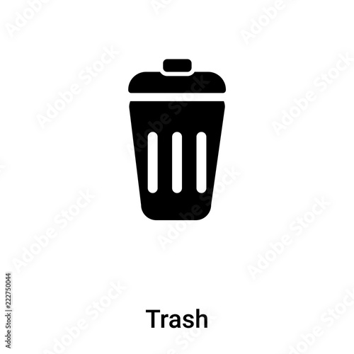 Fototapety, obrazy: Trash icon vector isolated on white background, logo concept of Trash sign on transparent background, black filled symbol