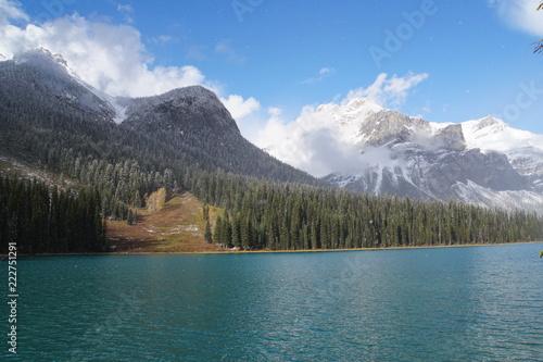 In de dag Meer / Vijver Emerald Lake - Canada