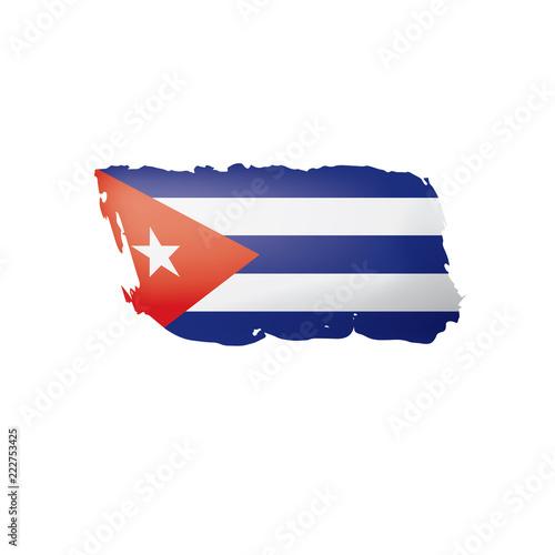 Cuba flag, vector illustration on a white background. Wallpaper Mural