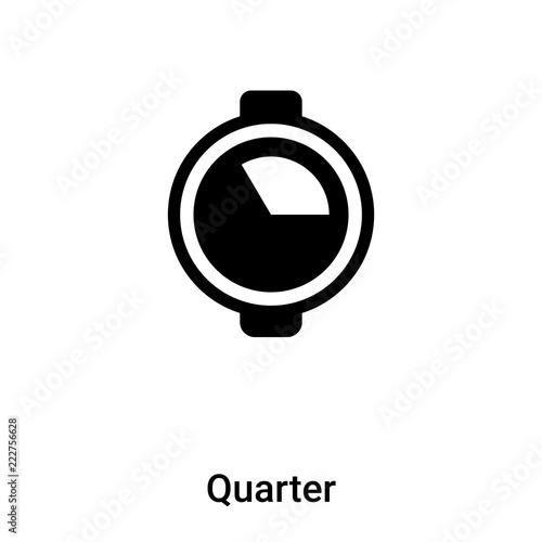 Fotografía  Quarter icon vector isolated on white background, logo concept of Quarter sign o