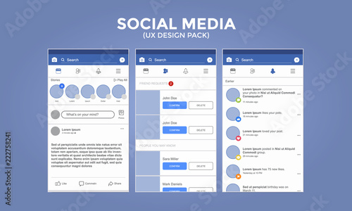 Photo Social Media UX Design Pack