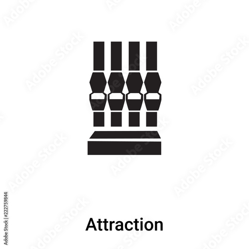 Foto  Attraction icon vector isolated on white background, logo concept of Attraction