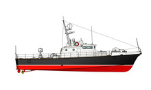 The Small Patrol Boat. Illustr...