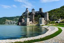 Golubac Fortress On Danube Riv...