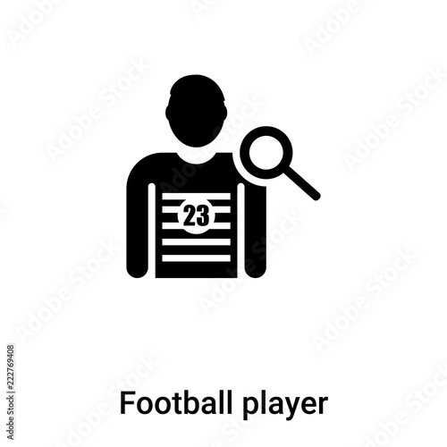 Fotografie, Tablou  Football player icon vector isolated on white background, logo concept of Footba
