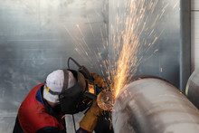 Mechanized Cleaning Of The Root Surface Of The Weld Control Sample Of Thick-walled Stainless Steel Pipe