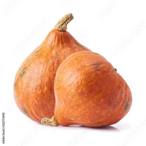 Fotografia  hokkaido pumpkin isolated over white background