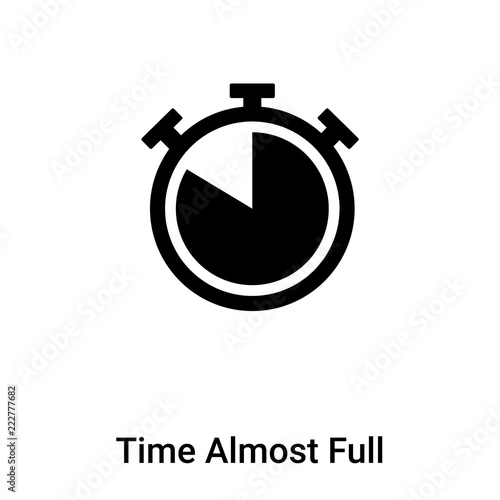 Canvastavla  Time Almost Full icon vector isolated on white background, logo concept of Time