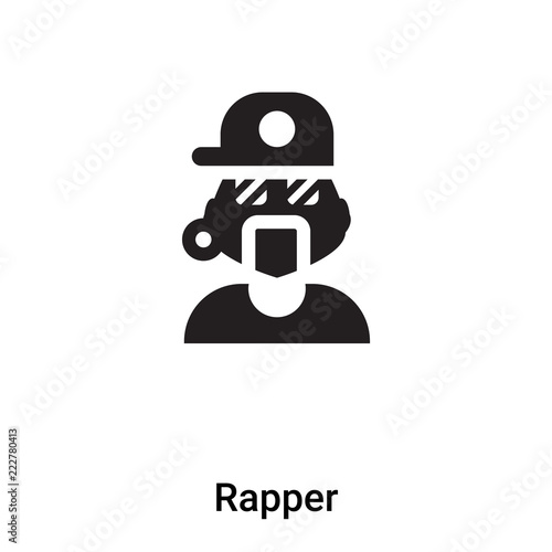Rapper icon vector isolated on white background, logo concept of Rapper sign on Wallpaper Mural