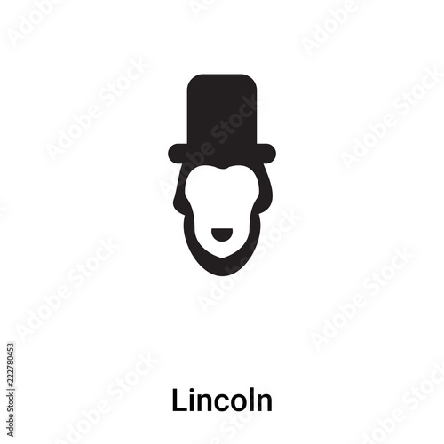 Fotografia  Lincoln icon vector isolated on white background, logo concept of Lincoln sign o
