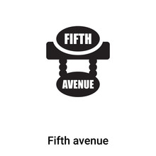 Fifth Avenue Icon Vector Isola...