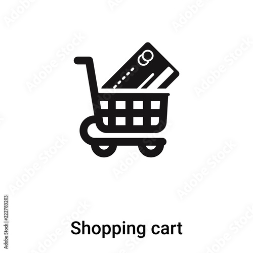 Shopping Cart Icon Vector Isolated On White Background Logo Concept Of Shopping Cart Sign On Transparent Background Black Filled Symbol Buy This Stock Vector And Explore Similar Vectors At Adobe Stock